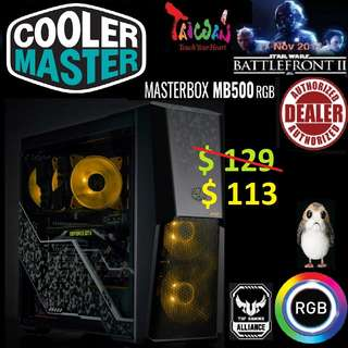 CoolerMaster MB500 RGB ATX CASE WITH T.G - TUF MASTERBOX.
