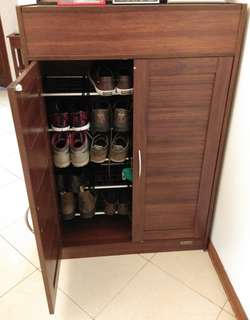 Wooden Shoe Rack Cabinet