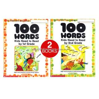 100 WORDS KIDS NEED TO READ (2 BOOKS)