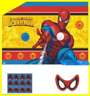 💥Superheroes Spiderman party supplies - party game / party backdrop / party deco