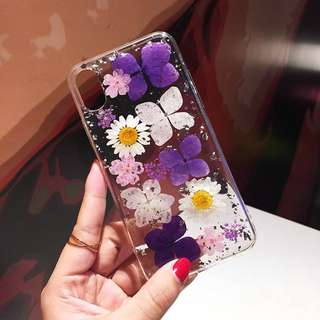 Handmade Real Pressed Flower Phone Case for iPhone 7/8 Plus