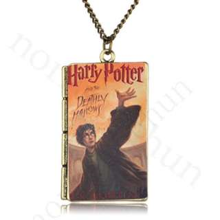 Harry Potter and the Deathly Hallows Book Pendant Necklace