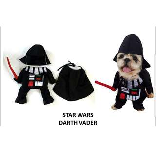 PET DOG/CAT FRONT COSTUME (Dart Vader)