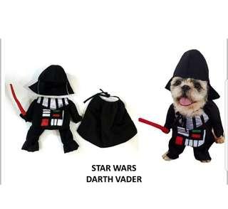 PET DOG/CAT FRONT COSTUME (Dart Vader)