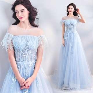 pre order blue prom bridesmaid wedding bridal gown dress  RBP0778