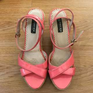 EVER NEW Wedges in Salmon Pink