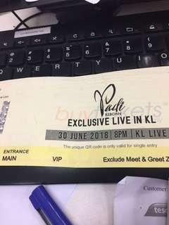 ticket Padi Reborn Live in KL