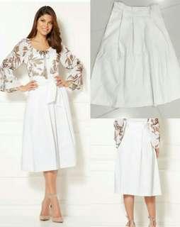 Eva Mendez White Skirt