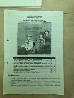 VJC General Paper Notes