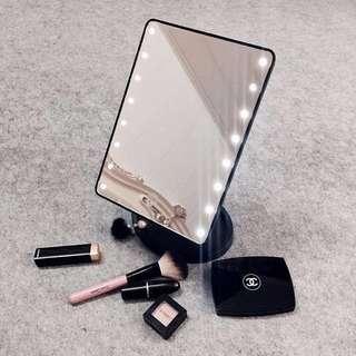 LED燈化妝鏡觸屏台式