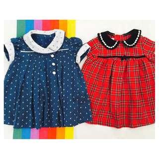 Quality Baby Dresses - 12 Mos - Set of 2