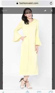 FV Basics Arabelle Flared Sleeve Eyelet Dress