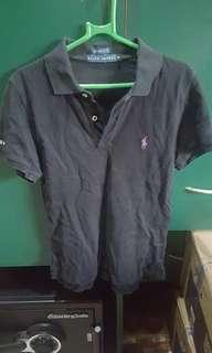 Ralph Lauren Black Collar Top