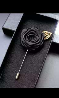 Rose with Gold Lapel Pin. Suit up