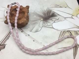 天然翡翠糯種粉色頸串
