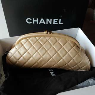 Authentic Chanel Timeless Clutch Bag
