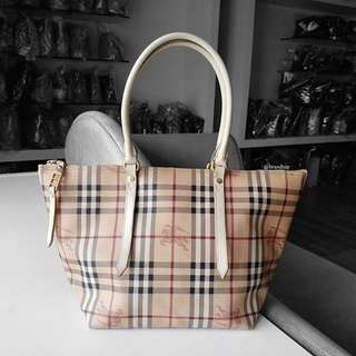 Authentic Burberry Haymarket Salisbury Tote