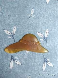 7.5cm長淑女帽牛角片