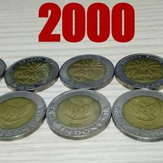 Uang koin kuno gambar kelapa sawit tahun 2000
