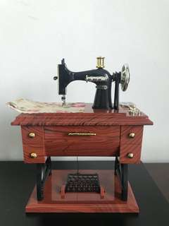 Miniature Antique Sewing Machine (Music Box)