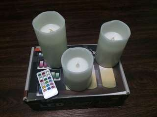 LED SCENTED CANDLE WITH REMOTE
