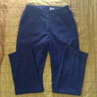 Dark blue green trousers