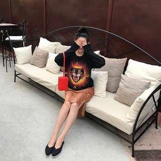Gucci超級重工藝貓咪刺繡衛衣