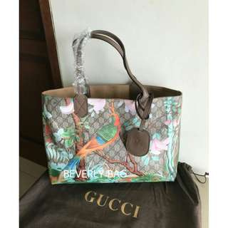 jual tas Gucci Tote Bird MIRROR QUALITY - brown