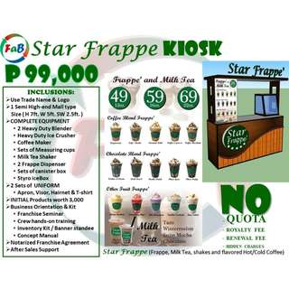 Star Frappe Franchise (complete with Mall Standard Cart, P3,000 worth of supplies and Equipments)