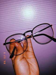 Black semi round specs