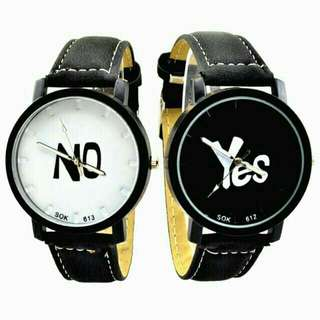"""UNISEX """"YES"""" AND """"NO"""" COUPLE WATCH"""