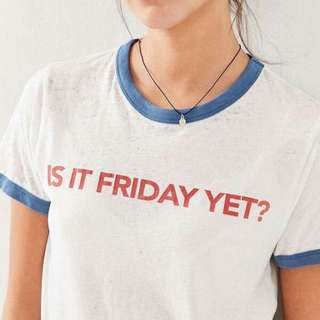 Is It Friday Ringer Apparel Shirt Tshirt Tee Clothing