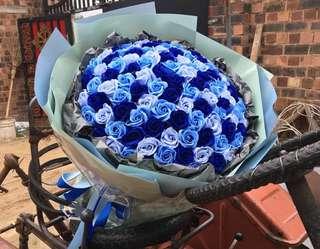 3 tones korea rose bouquet