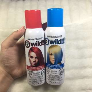 Hairspray coloring blue and red