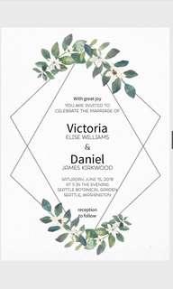 Invitation design service card