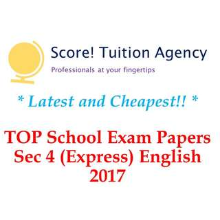 🚚 *Latest & Cheapest* 2017 Secondary 4 English Examination Papers (Express)