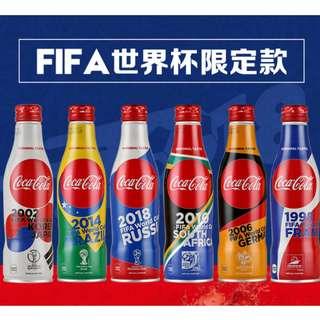 2018世界杯可口可樂紀念瓶, 日本限定鋁製的。共6款