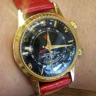 紅星前蘇聯製包金上鏈鬧錶
