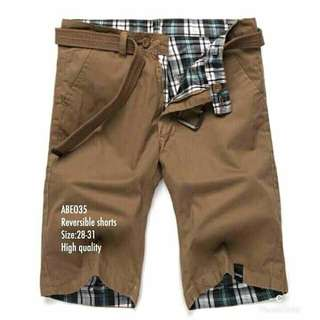 REVERSIBLE SHORTS (SIZE: 28-31)(HIGH QUALITY)