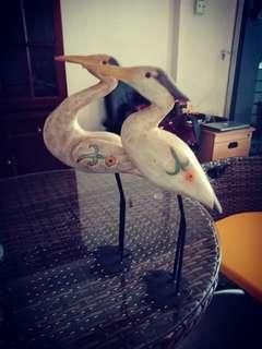 Crane wooden pair