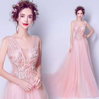 pre order pink fishtail prom bridesmaid wedding bridal gown dress  RBP0780