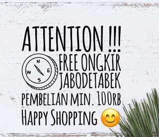 PROMO FREE ONGKIR !!!