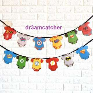 Avengers Marvel and DC superheroes banner in romper style!