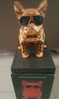 Rosegold Bulldog Premiun HD Wireless Speaker