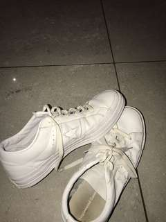 Converse -white leather