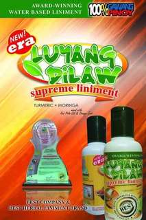Luyang dilaw supreme liniment, body oil etc.