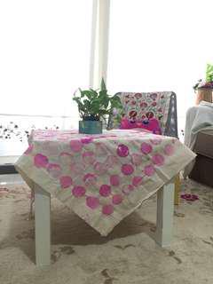 handmade printed table cloth / throw