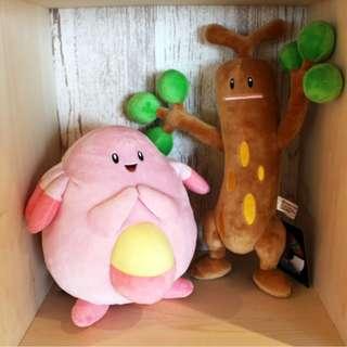 Pokemon Center Exclusive Chansey / Sudowoodo Plush (Pre-order)