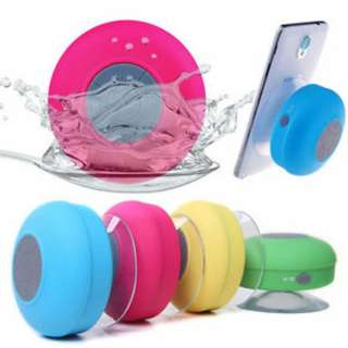 689. VICTORSTAR@ Waterproof Bluetooth 3.0 Shower Speaker / Handsfree Portable Speakerphone with Built-in Mic / Dedicated Suction Cup for Showers/Bathroom/Pool/Boat/Car/Beach & Outdoor Use (PINK)