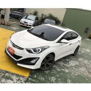 2014年Elantra白色EX 頂跑4萬        大桃園優質二手中古車買賣